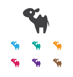 Of zoology symbol on camel vector