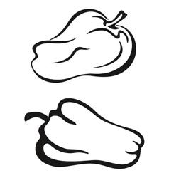 Pepper black pictogram vector