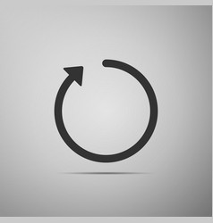 refresh icon isolated on grey background vector image vector image