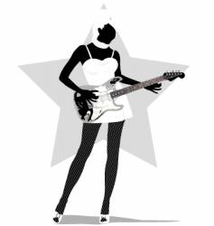 rock chic vector image