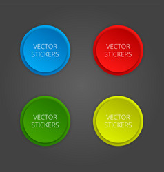 round banners set color stickers vector image vector image