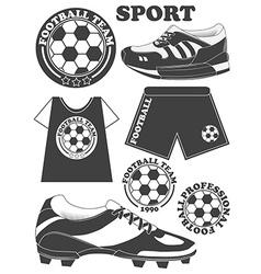 Set of football soccer emblem design elements vector