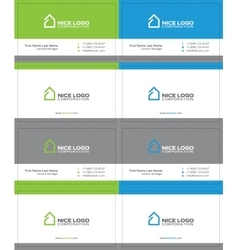 simple house business card 2 vector image vector image