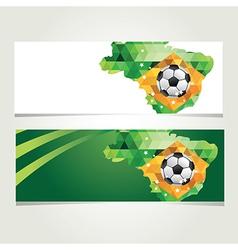 Soccer banner set Brazil summer world game vector image