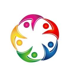 Swooshes business teamwork logo vector