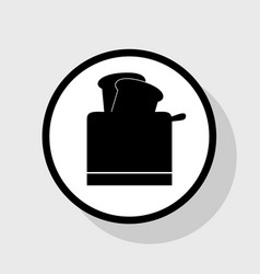 Toaster simple sign flat black icon in vector