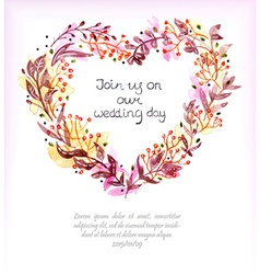 Watercolor floral frame colorful natural vector image vector image