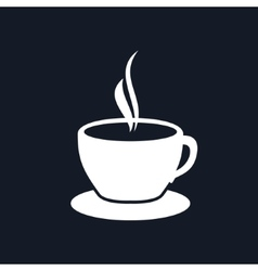 Cup of tea isolated on black background vector