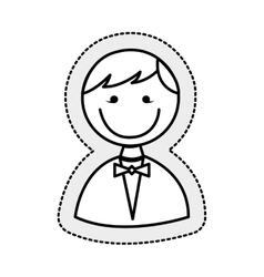 Husband character isolated icon vector