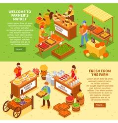 Farm Market Banners Set vector image