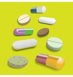 Pill collection vector