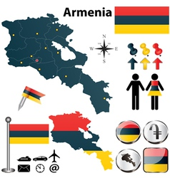 Map of armenia vector