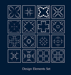 logo elements set design sign vector image