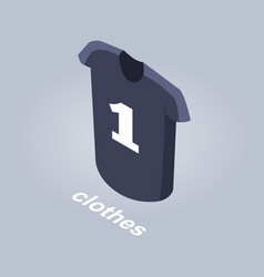 Clothes from internet shop isolated vector