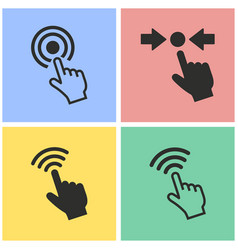 Touch icon set vector