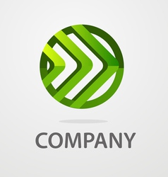 Round business logo vector