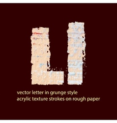 grungy letter L vector image