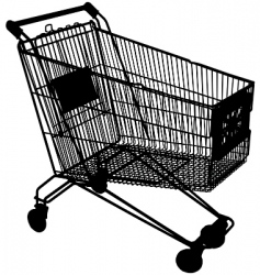 Shopping trolley vector