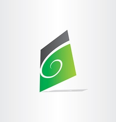 Stylized letter g green icon vector