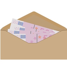 Money in envelope vector