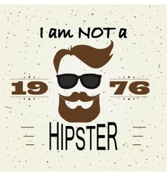 Hipster t-shirt design retro style typography vector