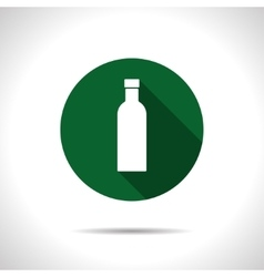 Color flat olive oil bottle vector