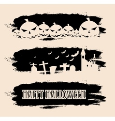 Halloween black grunge banners vector