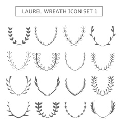 Laurel wreath icons vector