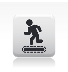 Exercise machine icon vector