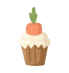 Sweet homemade carrot cake gourmet fresh dessert vector