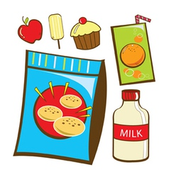 Snack food vector