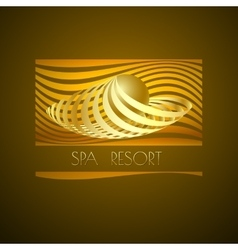Spa logo symbol icon on brown background vector