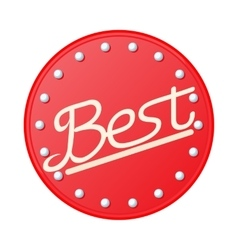Best in red circle badge icon cartoon style vector