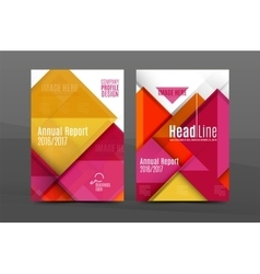 Colorful fresh business a4 cover template - flyer vector