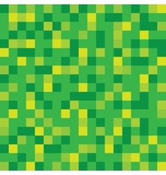 Abstract block texture green pixel vector