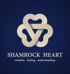 Abstract shamrock heart symbol vector