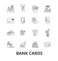 Bank cards credit debit money visa own vector