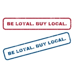Be loyalbuy local rubber stamps vector