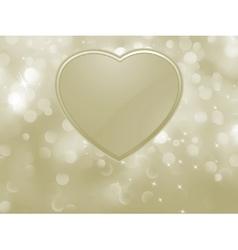 bokeh valentine card EPS 8 vector image vector image
