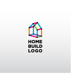 building home logo vector image