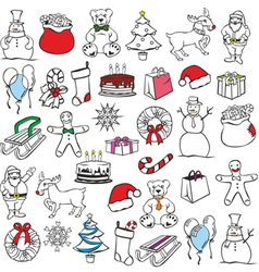 Christmass items vector