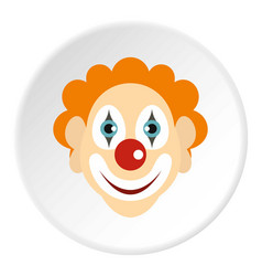 clown icon circle vector image