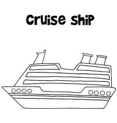 Cruise ship of transportation collection vector