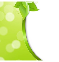 Ecology Background With Leaf vector image