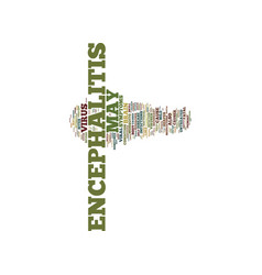 Encephalitis a brief overview text background vector
