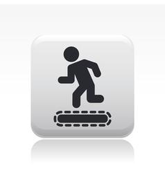 exercise machine icon vector image