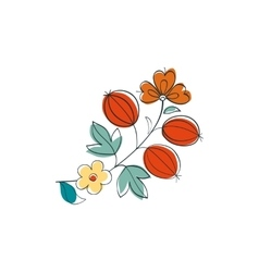 Fantasy gooseberry in russian ornamental style vector