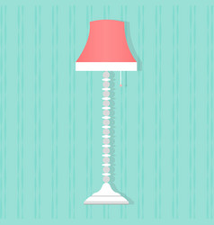 Flat style floor lamp icon vector