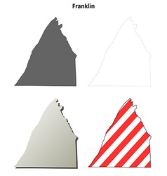 Franklin map icon set vector