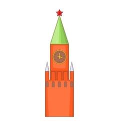 Kremlin icon cartoon style vector